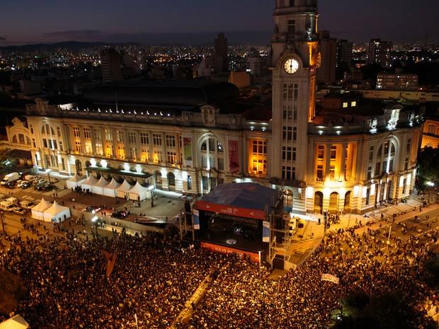VIRADA CULTURAL - Domingo (18h): Caetano Veloso se apresenta no Palco Júlio Prestes (Foto: Patricia Monteiro/Frame/Estadão Conteúdo)