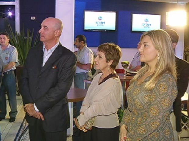 Evento reuniu representantes da TV Tem e convidados da cidade.  (Foto: reprodução/TV Tem)
