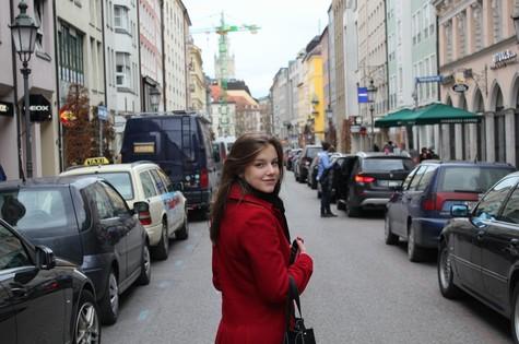 Alice Wegmann em Munique, na Alemanha (Foto: Arquivo pessoal)