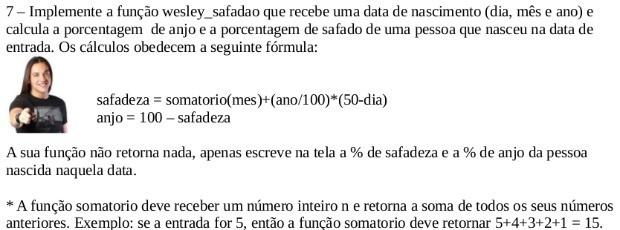 Questão matemática que cita Wesley Safadão vira hit na web (Foto: Arquivo Pessoal)