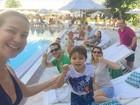 Luana Piovani começa comemoração pelos 40 anos em família