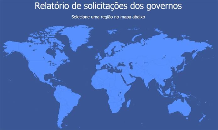 Solicitações de informações do governo brasileiro diminuíram no segundo semestre de 2014 (foto: Reprodução/Facebook)