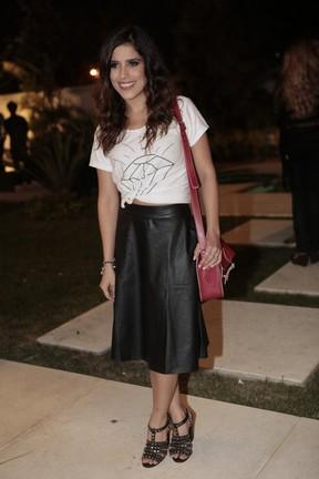 Camilla Camargo em evento no Rio (Foto: Isac Luz/ EGO)