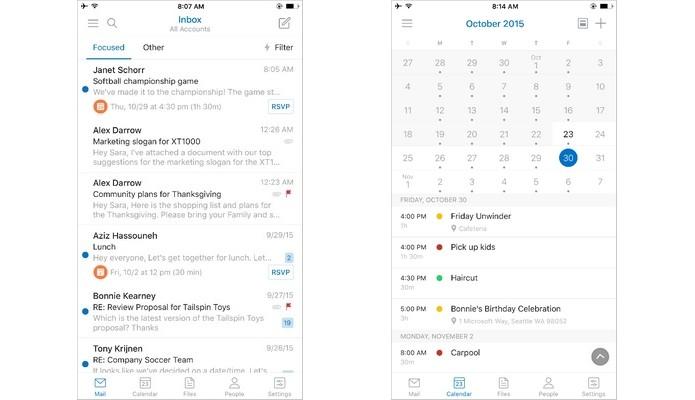 Outlook para Android e iPhone passa a integrar recursos do Sunrise (Foto: Divulgação/Microsoft)