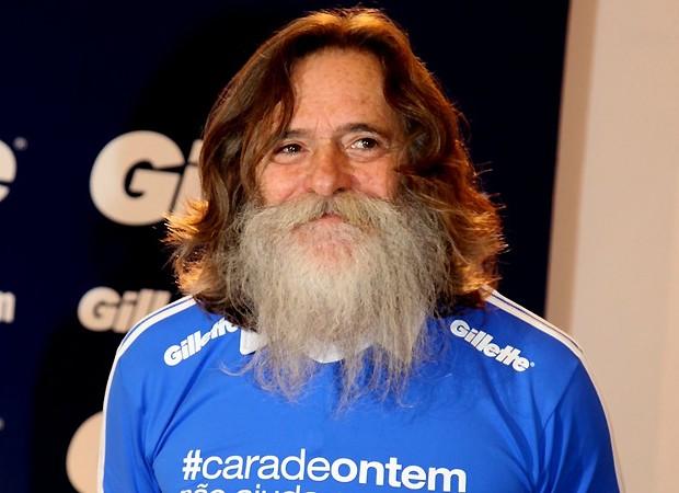 José de Abreu com a barba de Nilo (Foto: Claudio Andrade/Revista QUEM)