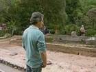 Casa de Chá continua destruída 5 meses após incêndio em Poços, MG