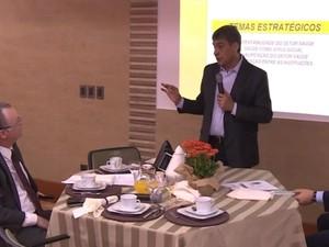Sebastião Melo (PMDB) falou sobre propostas para a saúde (Foto: Reprodução/RBS TV)