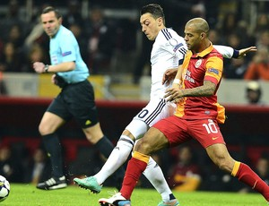 Felipe Melo no jogo Galatasaray x Real Madrid (Foto: EFE)