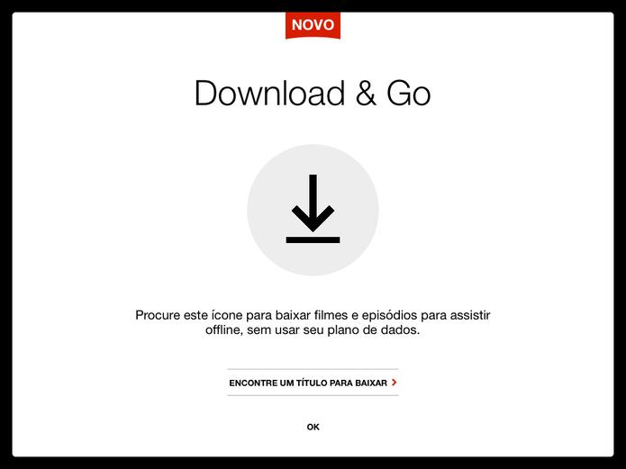 Netflix ganhou download de filmes e séries nos aplicativos para Android e iOS (foto: Reprodução/Elson de Souza)