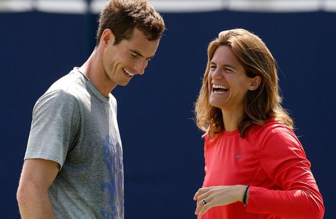 Tênis Andy Murray ao lado de Amelie Mauresmo treino (Foto: Agência Reuters)