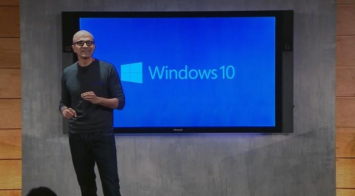 Windows 10 e Satya Nadella (Foto: Reprodução)