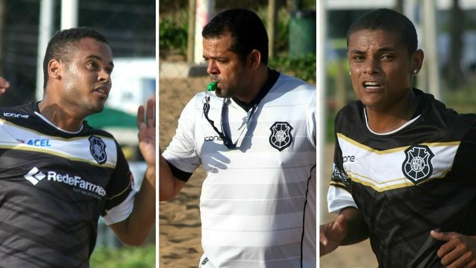 O técnico do Rio Branco, Alex Fabiano, aposta no talento de Dodô e Juninho Mascote (Foto: Montagem sobre fotos de Pauta Livre)