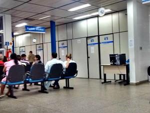 Nesta sexta, atendimento estava normal em unidade do instituto na cidade (Foto: Suelen Gonçalves/G1 AM)