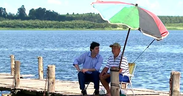 Aventura dentro e fora do rio Tiête (Foto: Reprodução EPTV)