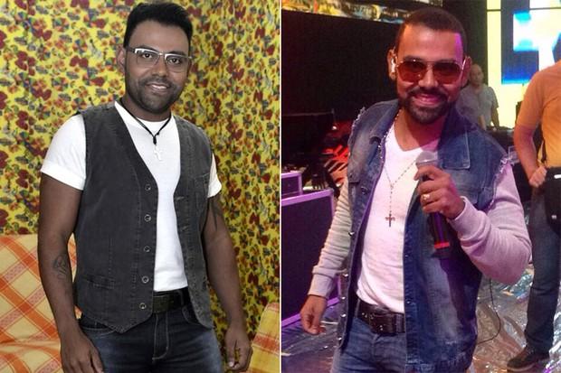 O cantor Pablo, antes e depois (Foto: EGO   Instagram / Reprodução)