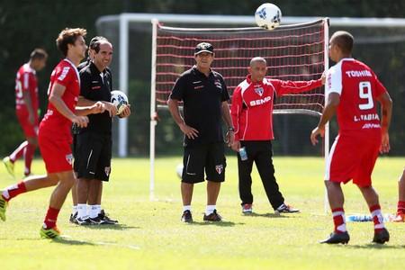 Muricy Ramalho treino São Paulo (Foto: Marcos Ribolli)