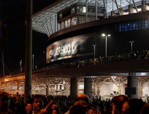 Arena do Grêmio após a vitória da Seleção sobre a França (Foto: Diego Guichard)