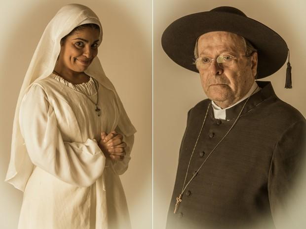 Padre Luiz é um homem severo, e Rita sonha em abandonar a vida religiosa (Foto: Fábio Rocha/Gshow)
