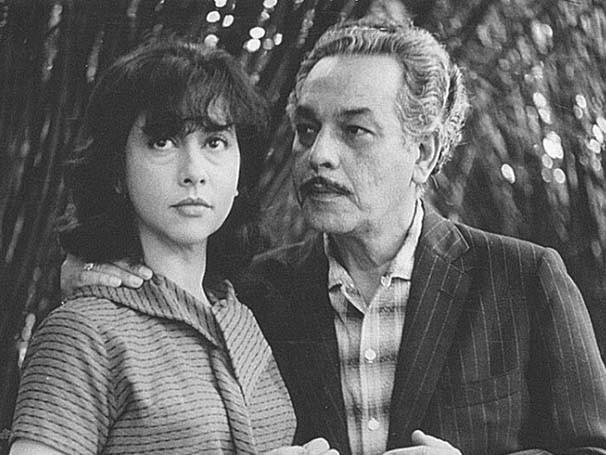 Paulo Gracindo e a jovem Fernanda Montenegro em ação (Foto: Arquivo)