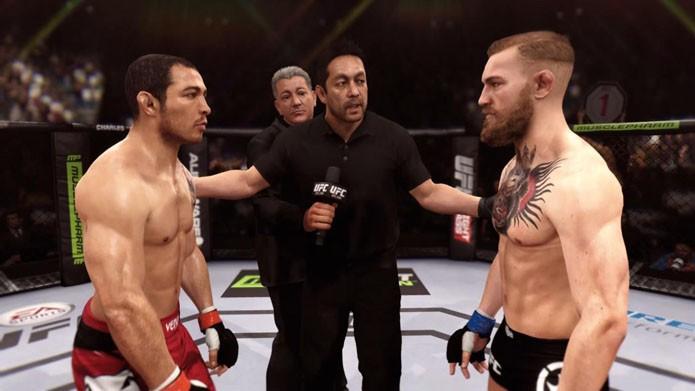 Será que Aldo vs McGregor em EA Sports UFC será igual na vida real?(Foto: Reprodução/André Mello)