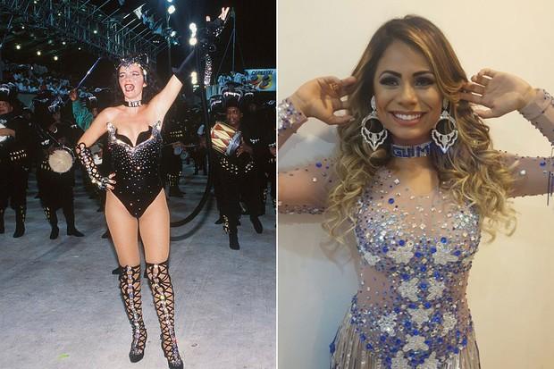 Luma de Oliveira e Lexa usam coleiras.  (Foto: PRN - Reprodução e Arquivo pessoal)