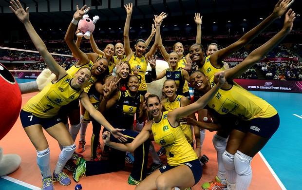 Brasil seleção Grand Prix comemoração (Foto: Divulgação/FIVB)