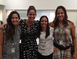 Monique Ferreira, Marina Canetti, Daniela Polzin e Camila Carvalho (Foto: Arquivo Pessoal)