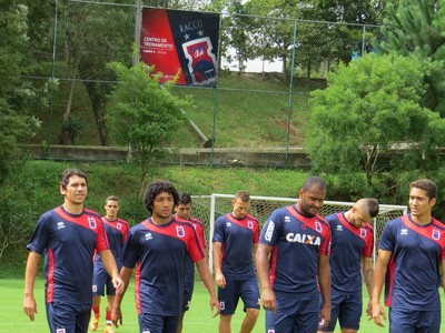 Grupo do Paraná Clube treina no CT Racco Barcelos (Foto: Fernando Freire)