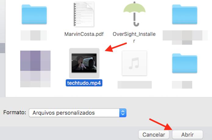 Opção para carregar vídeos do computador para um publicação em uma página do Facebook (Foto: Reprodução/Marvin Costa)