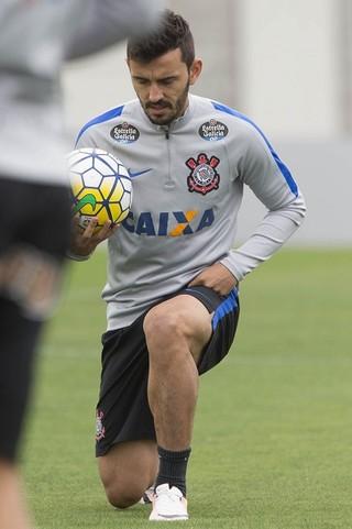 Uendel treino Corinthians (Foto: Daniel Augusto Jr. / Ag. Corinthians)