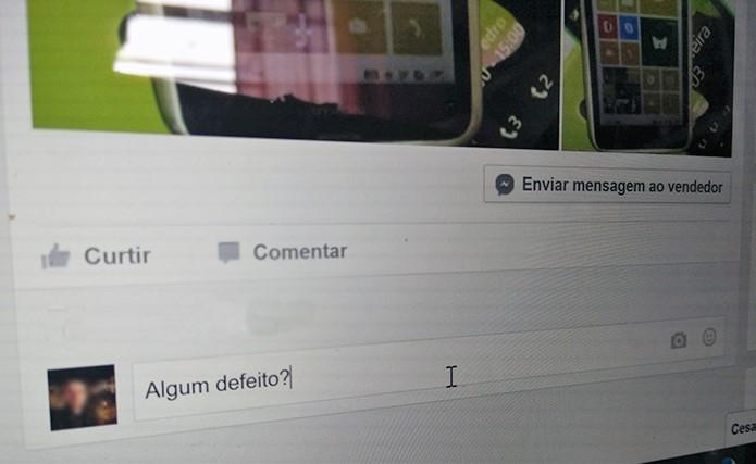 Questione toda e qualquer dúvida que tiver antes de fechar qualquer compra no Facebook (Foto: Reprodução/Elson de Souza)