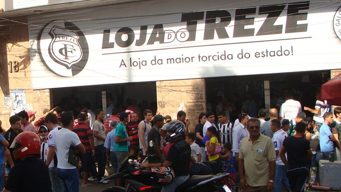 Loja oficial do Treze (Foto: Divulgação / Treze)