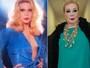 Rogéria relembra foto decotada e sensual aos 30 anos: 'Peito natural'
