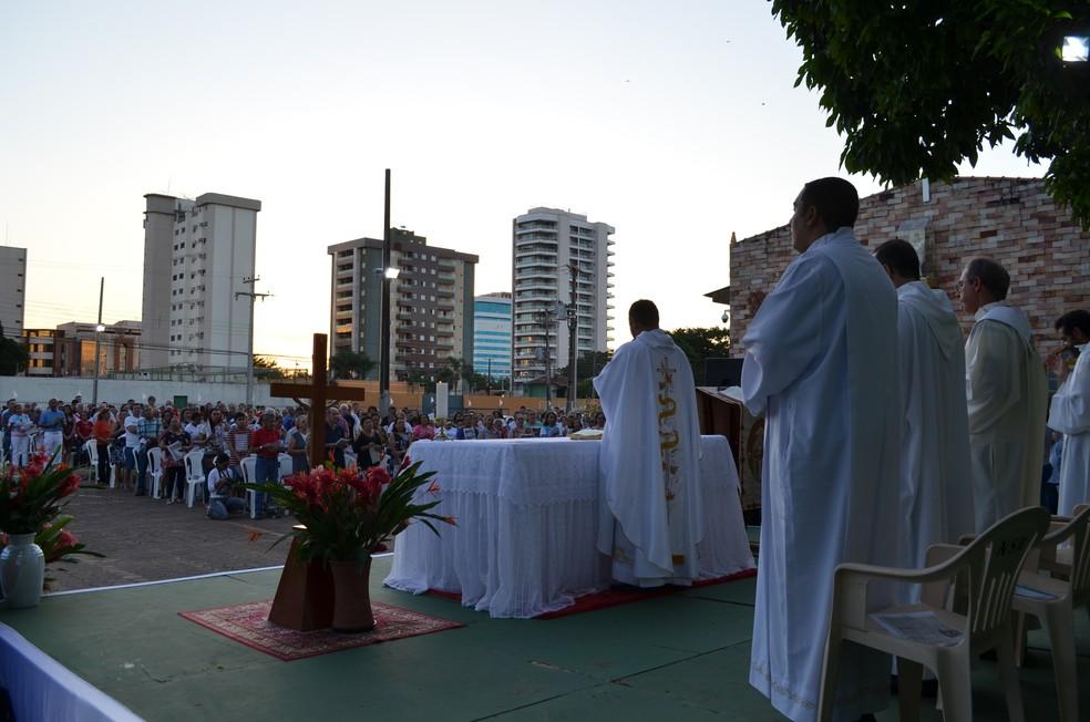 Corpus Christi em Porto Velho (Foto: Jheniffer Núbia/G1)