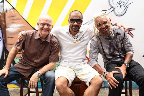 Luís Erlanger com José Júnior e Jorge Espírito Santo, o Jorjão (Foto: Arquivo pessoal)