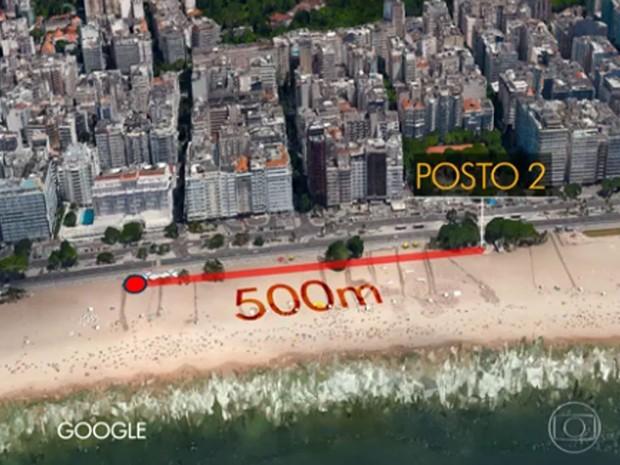 Suspeitos foram presos a 200 metros do local do crime em Copacabana (Foto: Reprodução / Globo)
