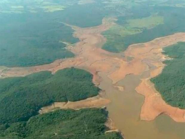 Reservatório Serra Azul, em Juatuba, tem a situação mais crítica da Grande BH com 5,73% da capacidade (Foto: Reprodução/ TV Globo)