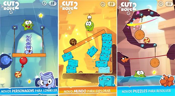 Cut the Rope 2 traz as novas aventuras do monstrinho fanático por doces (Foto: Divulgação/Windows Phone Store)