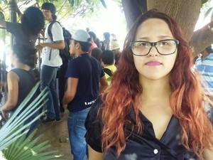 Estudante reclamou da falta de estrutura da Uespi (Foto: Fernando Brito/G1)