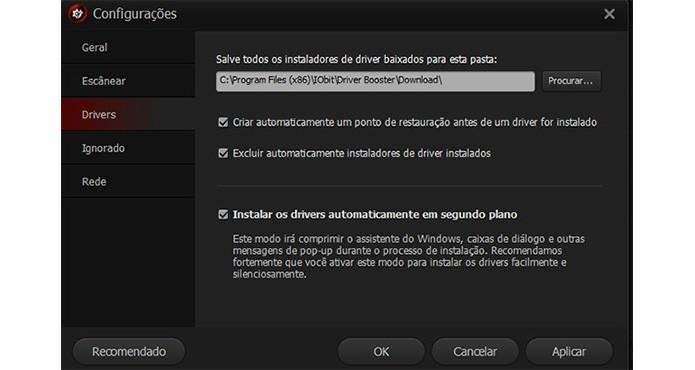 Driver Booster permite baixar os drivers e instalar em outro computador (Foto: Reprodução)