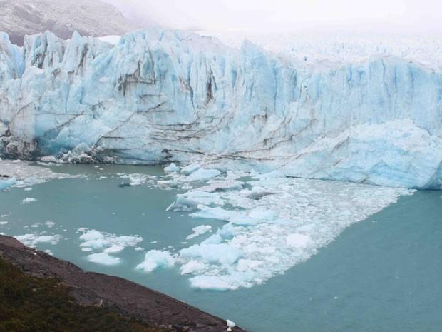 O Parque Perito Moreno fica a 400 km da cidade de El Calafate (Foto: Carlos Correa da Silva/VC no G1)