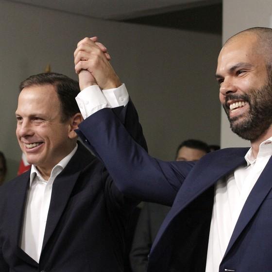 O prefeito de São Paulo, João Doria, e seu vice, Bruno Covas (Foto: HELOISA BALLARINI/SECOM)