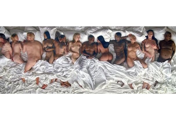 Famosos nus no clipe de Kanye West (Foto: Reprodução)