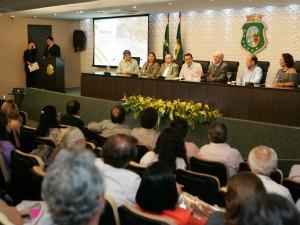 Lançamento oficial da X Bienal do Livro do CE aconteceu na terça-feira (15) (Foto: Tuno Vieira/Agência Diário)