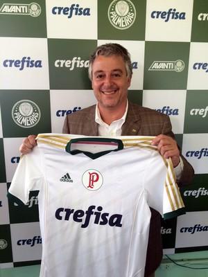 Palmeiras novo patrocinio (Foto: Felipe Zito)