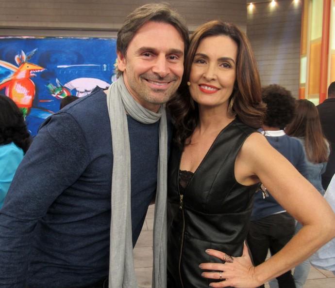O ator Murilo Rosa com a apresentadora  (Foto: Juliana Hippert/Gshow)