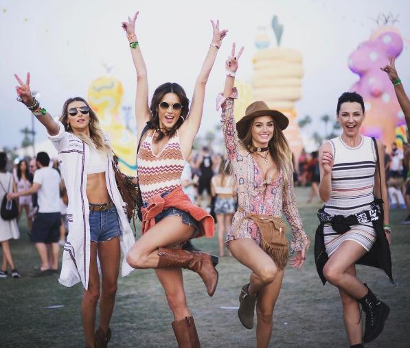 Coachella 2017 (Foto:  Reprodução/Instagram @alessandrambrosio)