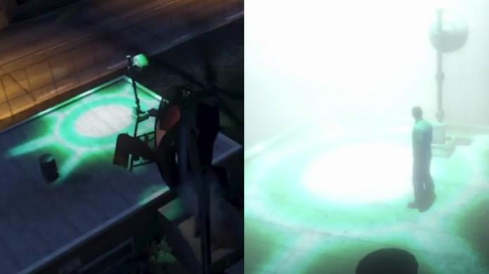 A estranha luz verde em Fort Zancudo agora realmente parece um feixe de abdução (Foto: Reprodução: YouTube)
