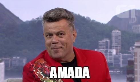 O jeito Milton Cunha de chamar as nossas âncoras queridas, Fátima Bernardes e Mariana Gross (Foto: Reprodução/TV Globo)