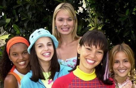 Com suas colegas de bancada no 'TV Globinho', que apresentou entre 2002 e 2003 Renato Rocha Miranda/ TV Globo
